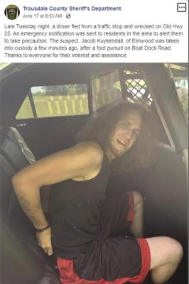 Kuykendall in TCSO Custody (Source Facebook)